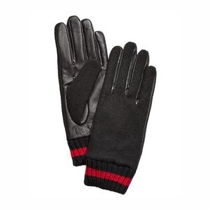 Calvin Klein Womens Leather Knit Combo Tour glove